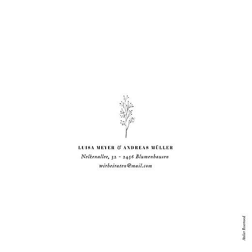 Hochzeitseinladungen Floral minimal (klappkarte) weiß - Seite 4