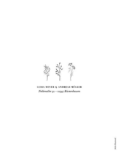 Hochzeitseinladungen Floral minimal weiß - Seite 2