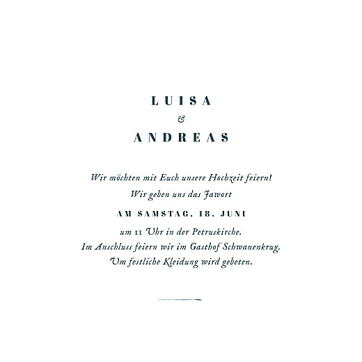 Hochzeitseinladungen Floral minimal (klappkarte) beige - Seite 3