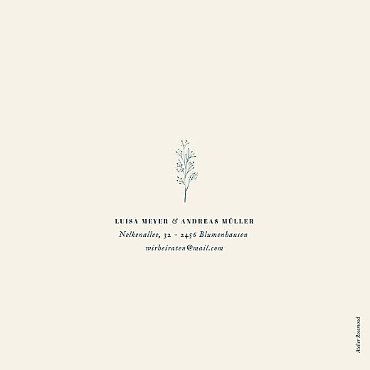 Hochzeitseinladungen Floral minimal (klappkarte) beige - Seite 4