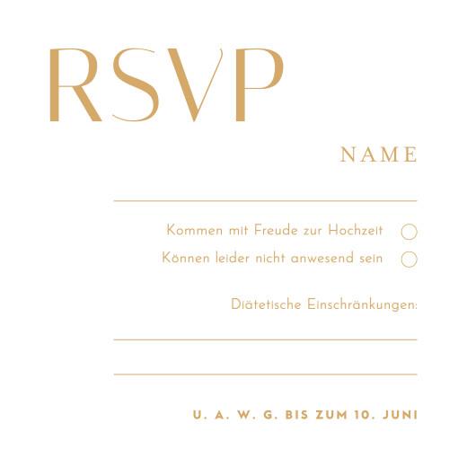 Antwortkarte Hochzeit Copenhagen blau