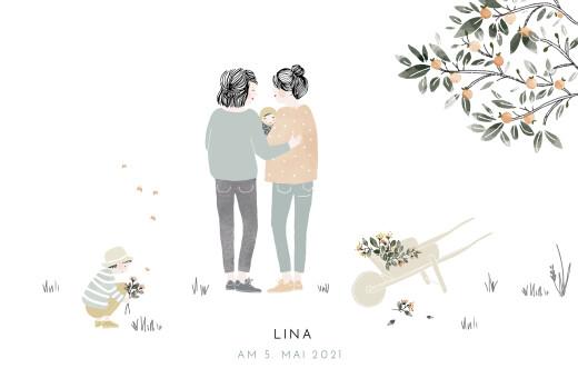 Geburtskarten Summer family (mamas) 1