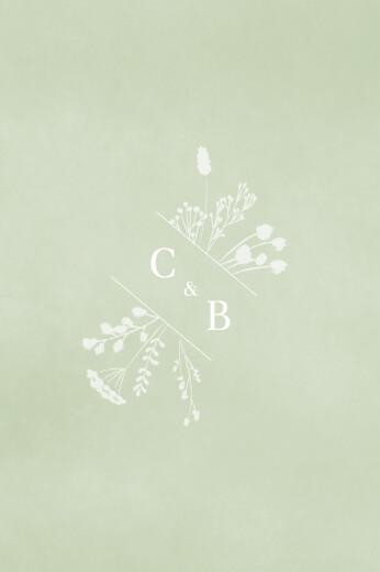Tischkarten Hochzeit Sommersonnenwende grün