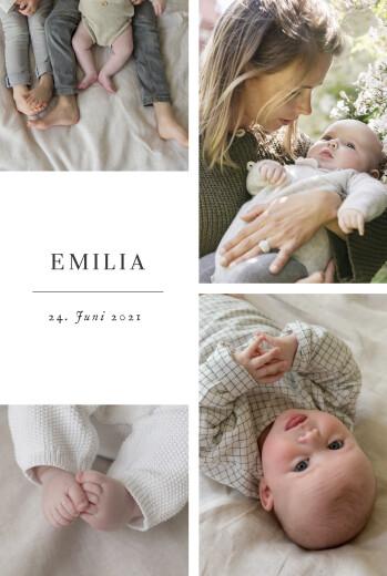 Geburtskarten Sweet moments (hoch) weiß