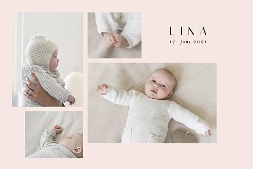Geburtskarten Zuckerwatte rosa