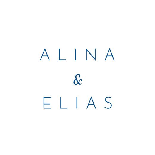 Anhänger Hochzeit Kalligraphie blau