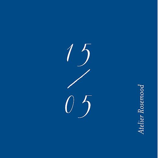 Anhänger Hochzeit Kalligraphie blau - Seite 2