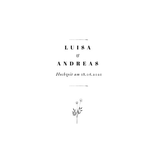 Hochzeitseinladungen Floral minimal (klappkarte) weiß