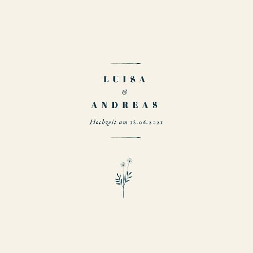 Hochzeitseinladungen Floral minimal (klappkarte) beige