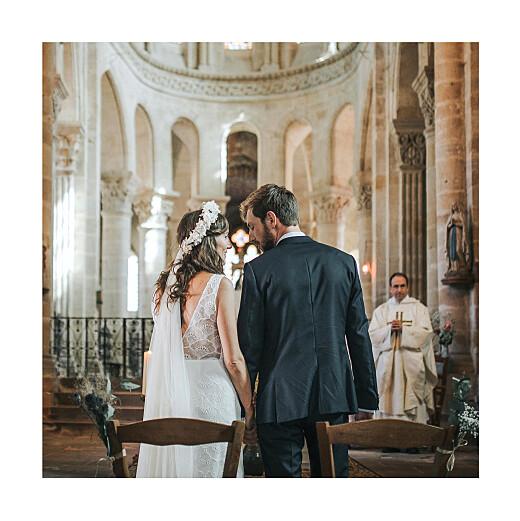 Dankeskarten Hochzeit Elegant herz (klappkarte) weiß - Seite 2