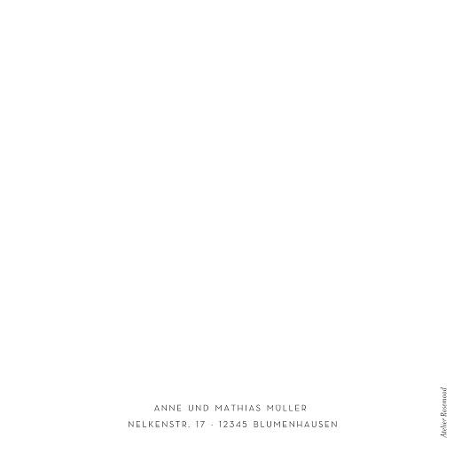 Dankeskarten Hochzeit Elegant herz (klappkarte) weiß - Seite 4