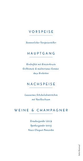 Menükarte Kalligraphie blau - Seite 2