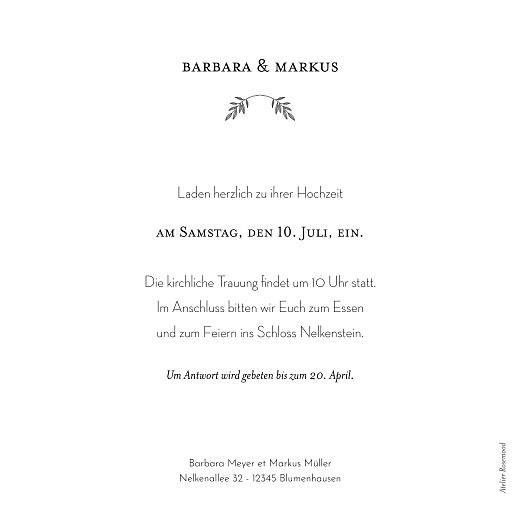 Hochzeitseinladungen Blütenspiegelung rosa - Seite 2