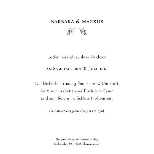 Hochzeitseinladungen Blütenspiegelung klappkarte grün - Seite 3