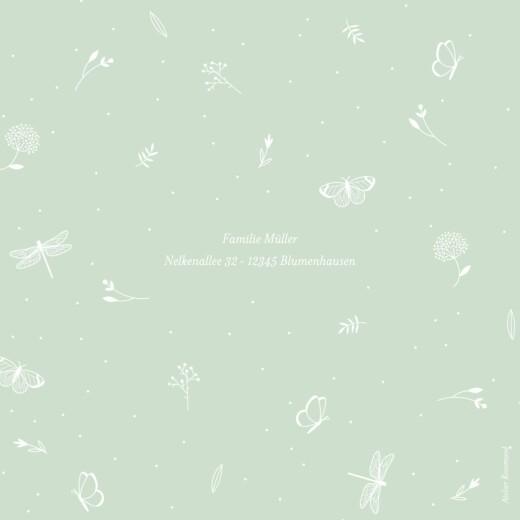 Geburtskarten Eleganter schmetterling klappkarte grün - Seite 4