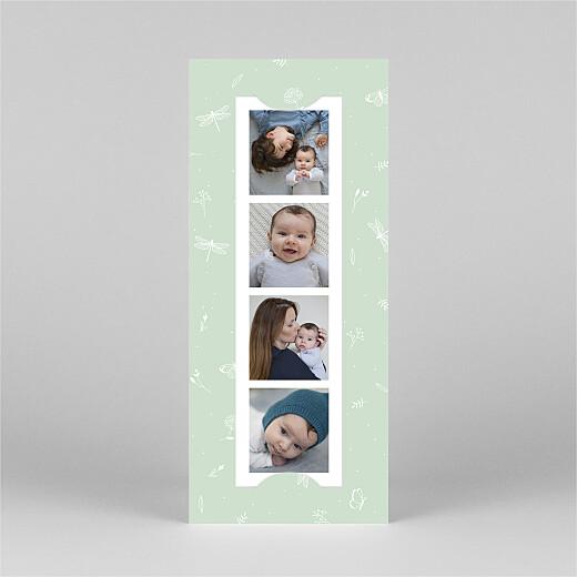 Geburtskarten Eleganter schmetterling (fotostreifen) grün - Ansicht 2
