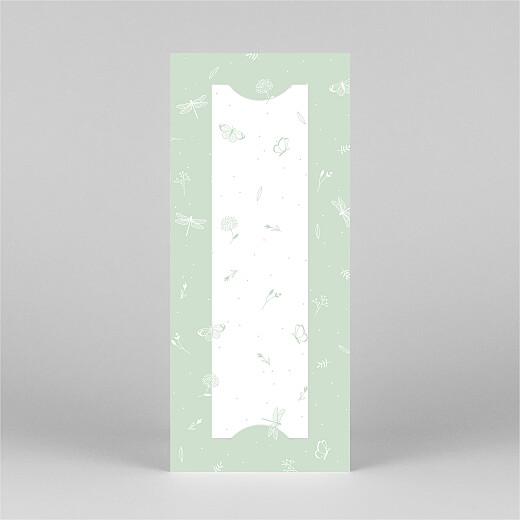 Geburtskarten Eleganter schmetterling (fotostreifen) grün - Ansicht 3