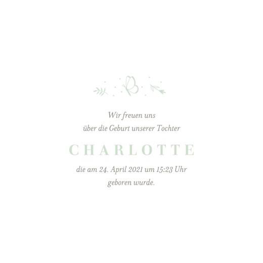 Geburtskarten Eleganter schmetterling klappkarte grün - Seite 3