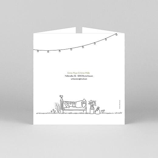 Hochzeitseinladungen Sommerhochzeit (duo) weiß - Ansicht 3