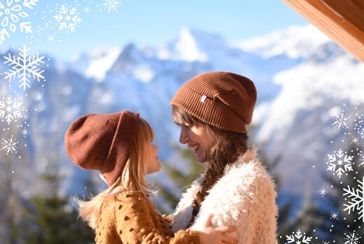 Weihnachtskarten Wintertage blau