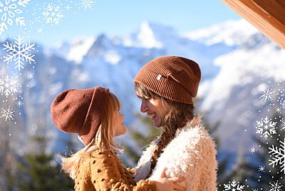 Weihnachtskarten Wintertage blau finition