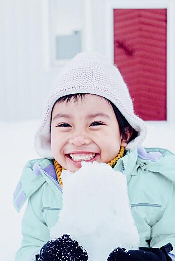 Weihnachtskarten Schneepünktchen 5 fotos (gold) blau