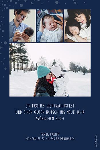 Weihnachtskarten Schneepünktchen 5 fotos (gold) blau - Seite 2