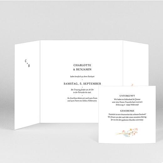 Hochzeitseinladungen Sommersonnenwende (duo) blau - Ansicht 2