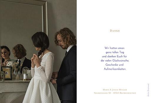 Dankeskarten Hochzeit Love code blau - Seite 2