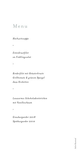 Menükarte Landluft gipskräuter - Seite 2
