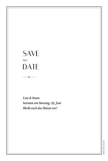Save-the-Date Karten Fußspuren weiß - Seite 2