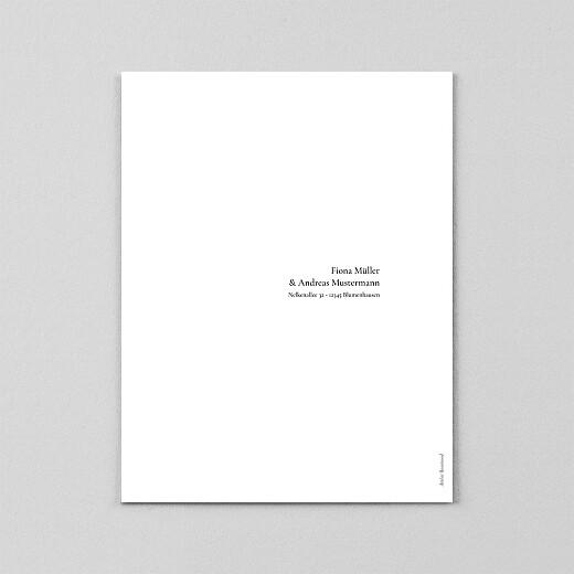 Hochzeitseinladungen Dezent hochformat (transparentpapier) weiß - Ansicht 3