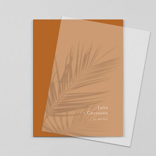 Hochzeitseinladungen Sommerbrise (transparentpapier) palme - Ansicht 1