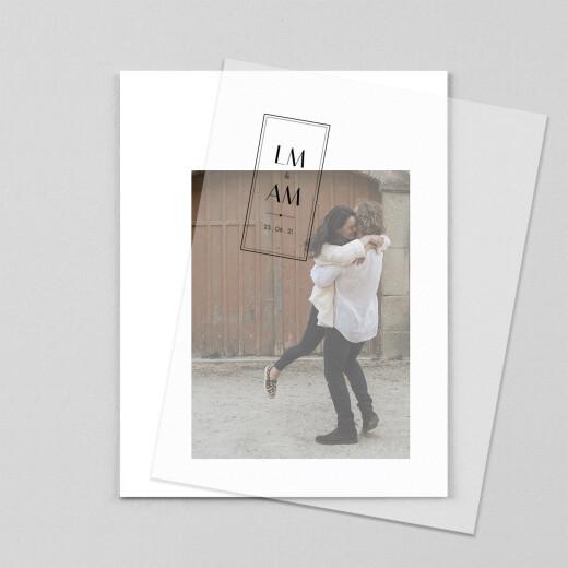 Hochzeitseinladungen Fußspuren (transparentpapier) 1 - Ansicht 1