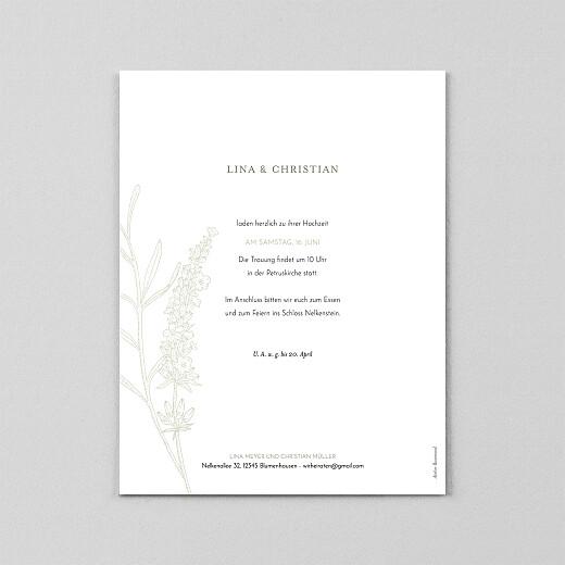 Hochzeitseinladungen Pflanzenwelt hoch (transparentpapier) grün - Ansicht 3