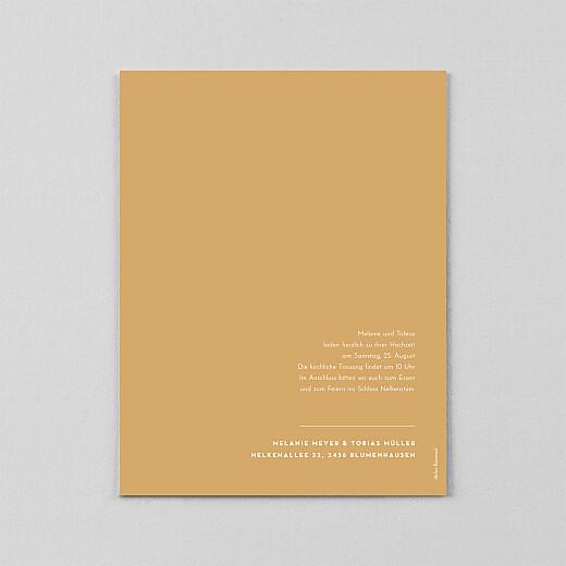 Hochzeitseinladungen Copenhagen (transparentpapier) ocker - Ansicht 3