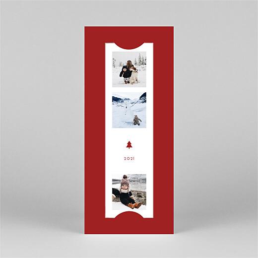 Weihnachtskarten Elegant tannenbaum (duo) rot - Ansicht 2
