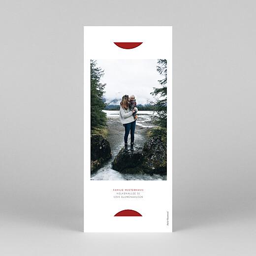 Weihnachtskarten Elegant tannenbaum (duo) rot - Ansicht 4