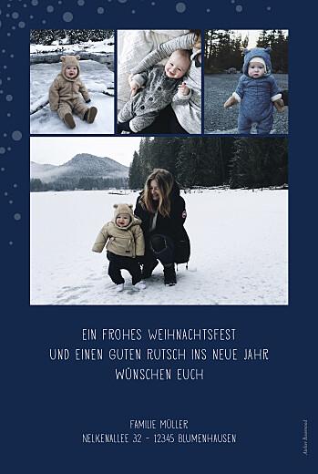 Weihnachtskarten Schneepünktchen 5 fotos blau - Seite 2