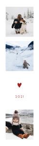 Weihnachtskarten Elegant herz (fotostreifen) bis rot