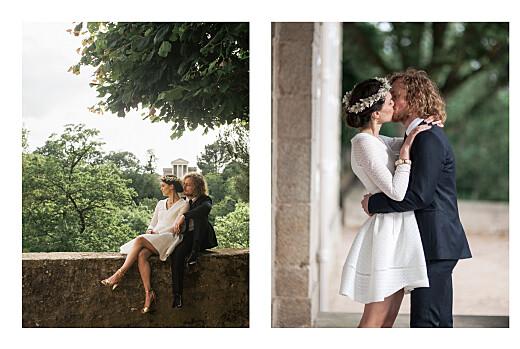 Dankeskarten Hochzeit Floral minimal (klappkarte) beige - Seite 2