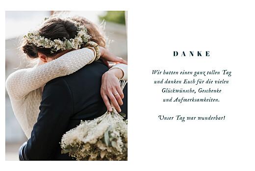 Dankeskarten Hochzeit Floral minimal (klappkarte) beige - Seite 3