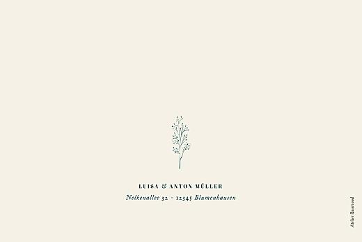 Dankeskarten Hochzeit Floral minimal (klappkarte) beige - Seite 4