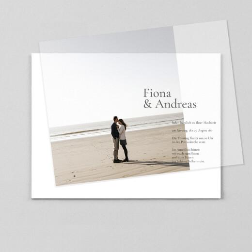 Hochzeitseinladungen Dezent (transparentpapier) weiß - Ansicht 1