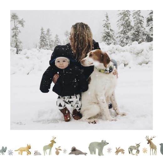 Weihnachtskarten Tundra weiß