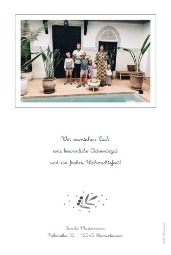 Weihnachtskarten Kleine zweige hoch blau - Seite 2