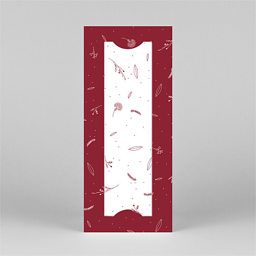 Weihnachtskarten Liebliches blattwerk (fotostreifen) rot - Ansicht 3