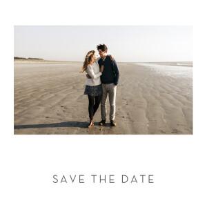 Save-the-Date Karten Elegant herz (gold) weiß