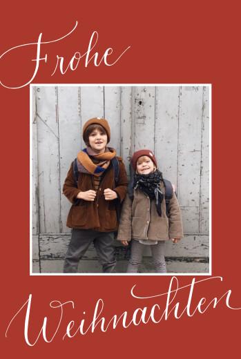 Weihnachtskarten Swing (2 fotos) rot