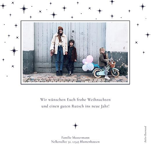 Weihnachtskarten Sternenhimmel marineblau - Seite 2